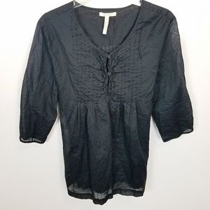 Large Old Navy Maternity Peasant Blouse w Tie